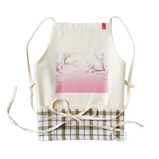 Cherry Blossoms Zazzle HEART Apron