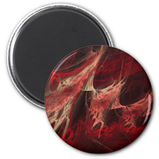 Cherry Bomb Abstract Fractal Art Fridge Magnets