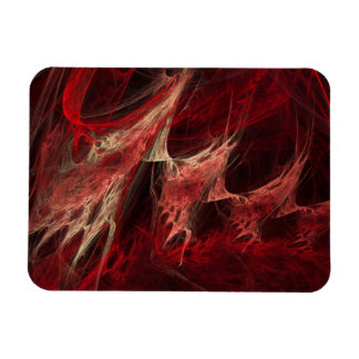 Cherry Bomb Abstract Fractal Art Rectangle Magnet