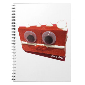 cherry bomb cake face with logo notebook