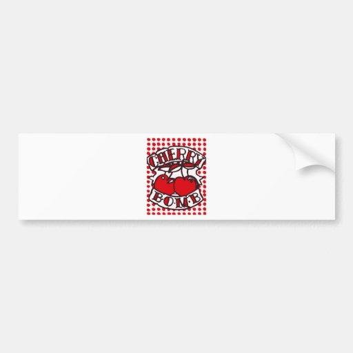Cherry bomb design bumper stickers