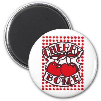 Cherry bomb design refrigerator magnet