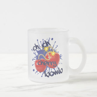 Cherry Bomb Frosted Glass Coffee Mug