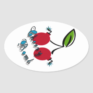 Cherry Bomb Oval Sticker