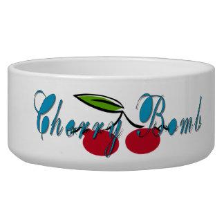 Cherry Bomb Pet Food Bowls