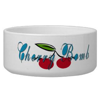Cherry Bomb Cat Bowl