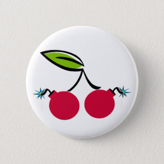 Cherry Bomb Pinback Button