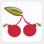 Cherry Bomb Square Sticker