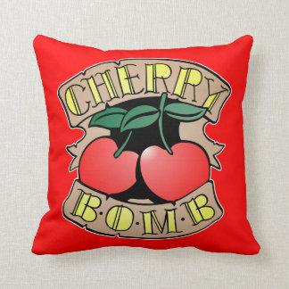 Cherry Bomb Throw Pillow