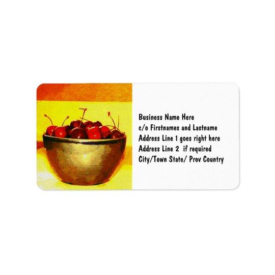 Cherry Bowl Label