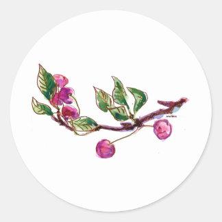 Cherry Branch Classic Round Sticker