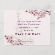 Cherry Branches Save the Date Wedding pos Post Cards