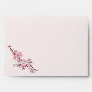 Cherry Branches Wedding Envelope