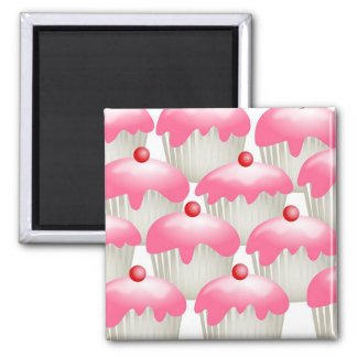 Cherry Buns 2 Inch Square Magnet
