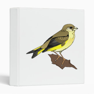 Cherry Canary 3 Ring Binder