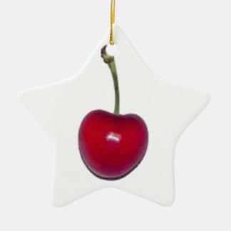Cherry Ceramic Ornament