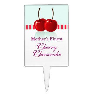 cherry cheesecake cake topper