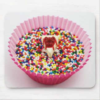 Cherry Cheesecake in Colorful Sprinkles Mousepad