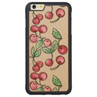 Cherry Cherries Carved® Maple iPhone 6 Plus Bumper