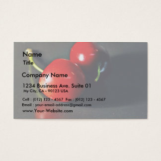 Cherry Cherries Fruit Business Card