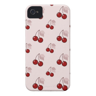 Cherry cherries girly pink pattern cute foodie Case-Mate iPhone 4 case
