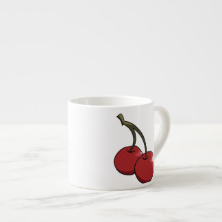 Cherry Cherries in red Espresso Cup