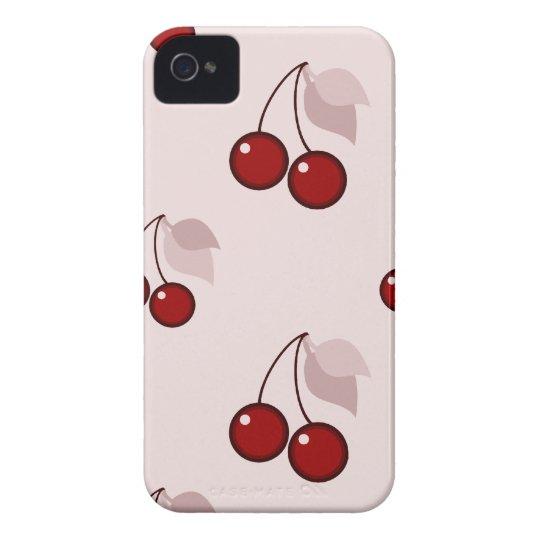 Cherry cherries pink pattern iPhone 4 / 4S case