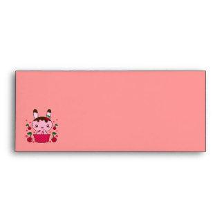 Cherry Chocolate Truffle Bunny Envelope