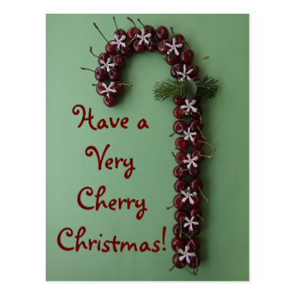 Cherry Christmas Postcard