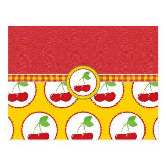 Cherry Circles Postcard