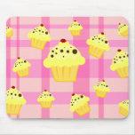 Cherry Cream Cupcakes Mouse Pad