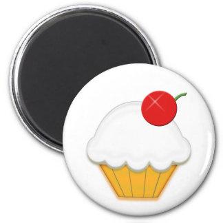Cherry Cupcake Art Refrigerator Magnet