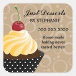 Cherry Cupcake Bakery Stickers