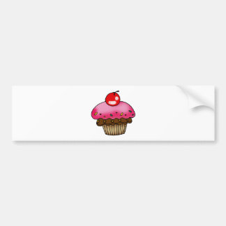 cherry cupcake bumper sticker