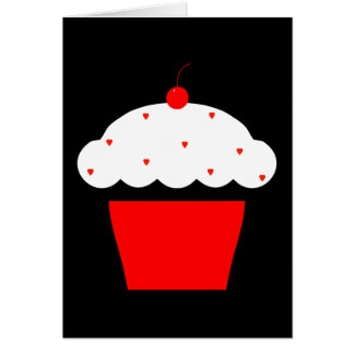 cherry cupcake card