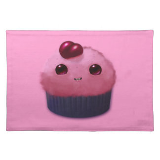 Cherry Cupcake Cloth Placemat