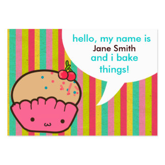 Cherry Cupcake for Bakers Large Business Cards (Pack Of 100)