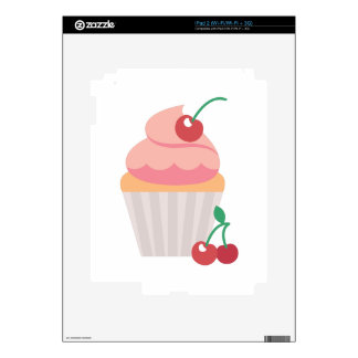 Cherry Cupcake iPad 2 Decal