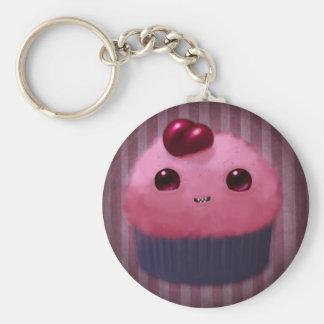 Cherry Cupcake Basic Round Button Keychain