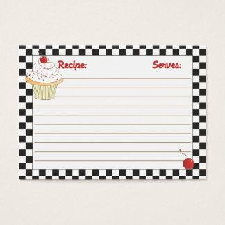 Cherry Cupcake Mini Recipe Cards