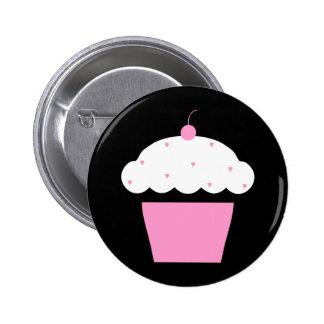 cherry cupcake pinback button