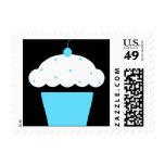 cherry cupcake postage stamp