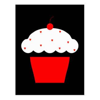 cherry cupcake postcard