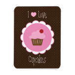 Cherry Cupcake Rectangle Magnets