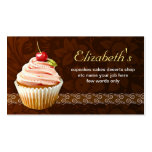 cherry cupcake sweet cute business card