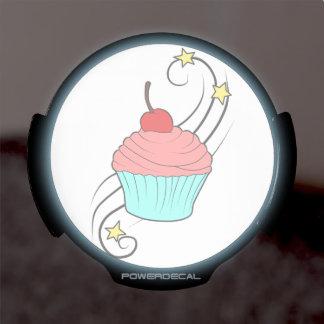 Cherry Cupcake Window Decal LED Car Window Decal