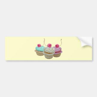 Cherry cupcakes bumper sticker