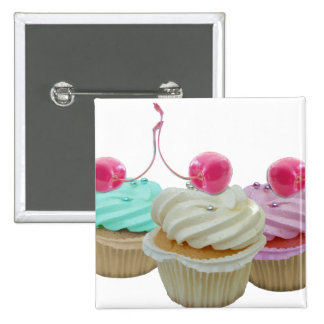 Cherry cupcakes pinback button