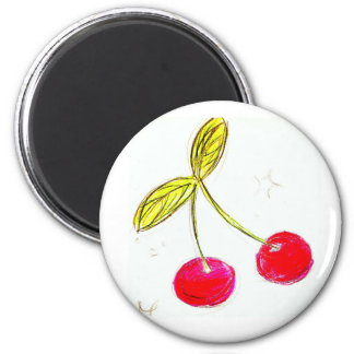 cherry drawing 2 inch round magnet