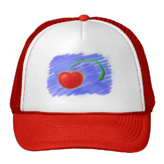 Cherry Drawing Trucker Hat